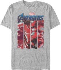 marvel men's avengers endgame panel logo, short sleeve t-shirt