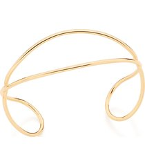 bracelete bijoulux  fio de tubo liso entrelaçado semi jóia