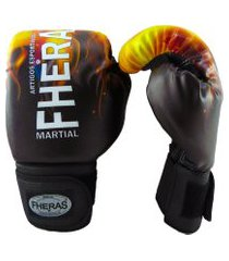 luva boxe muay thai fheras new top fogo 14 oz .