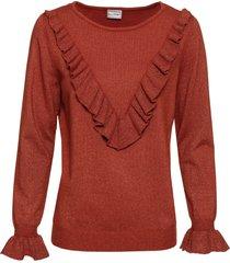 maglione con fili lucidi (marrone) - bodyflirt