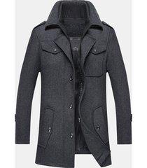 giacca casual da uomo con collo alto e zip staccabile
