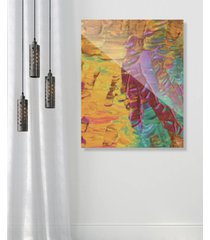 "creative gallery sunset beach tanning on yellow abstract 24"" x 36"" acrylic wall art print"