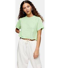 apple green raglan crop t-shirt - apple
