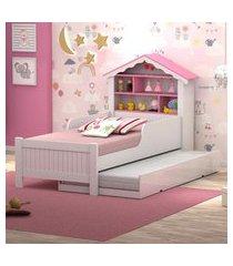 cama de princesa solteiro com auxiliar casah