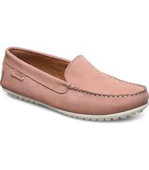 plain driving loafer wmn loafers låga skor rosa marstrand