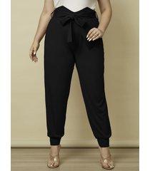 yoins plus talla cinturón diseño atado diseño pantalones