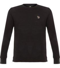 ps by paul smith black long sleeve zebra print t-shirt 828r-zebra79