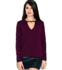 blusa up side wear choker vinho
