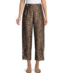 linnie leopard-print jacquard pants