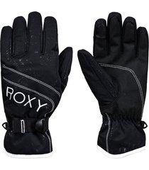 women's roxy jetty solid snow sport gloves, size x-large - black