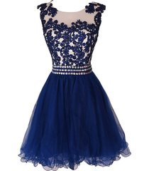 lace navy blue homecoming dresses,beaded greduation dresses
