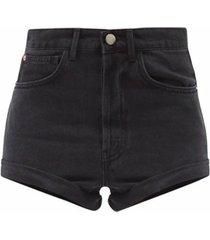 rivet cut-off denim shorts