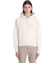 ami alexandre mattiussi sweatshirt in beige cotton