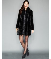 the fur vault fox-trimmed mink coat