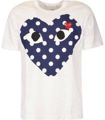 comme des garçons logo dotted heart t-shirt