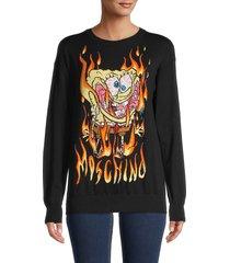 moschino women's graphic logo sweatshirt - nero - size xs