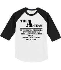 the a team 80's tv show shirt mens raglan t