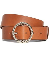 leo twisted circle buckle belt