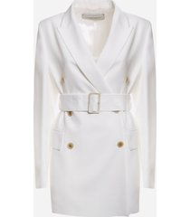 golden goose double-breasted clizia blazer with belt at the waist