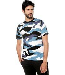 camiseta azul-blanco-negro nike aop ss tee