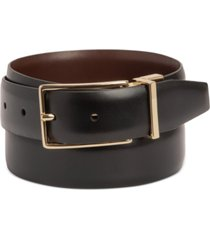 alfani men's reversible faux-leather belt, created for macy's