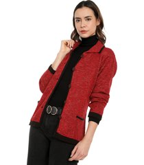 chaqueta multicolor bolsillos giive - ema517-rojo
