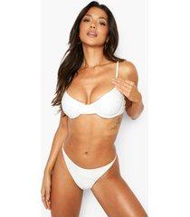 gerecyclede bikini top met beugel, white