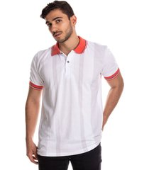 camiseta tipo polo puntazul blanco