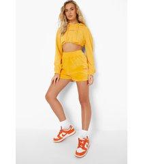 official korte hoodie met korset detail, orange