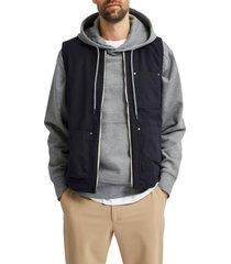 men's selected homme baker utility vest, size xx-large - blue