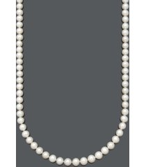 "belle de mer aa+ 30"" cultured freshwater pearl strand necklace (8-1/2-9-1/2mm) in 14k gold"