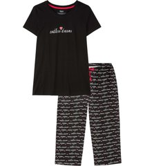pigiama con pinocchietto (nero) - bpc bonprix collection