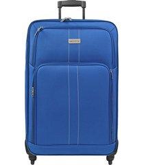 maleta de viaje mediana azul omni - explora