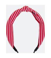 tiara larga com nó listrada | accessories | vermelho | u