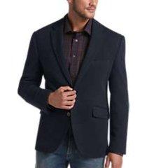 joseph abboud navy modern fit casual coat