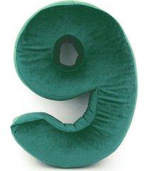poduszka cyferka 9 velvet zielona