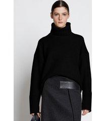 proenza schouler doubleface eco cashmere oversized turtleneck sweater black l