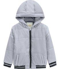 jaqueta com capuz infantil menino milon cinza - cinza - menino - algodã£o - dafiti