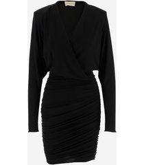 alexandre vauthier designer dresses & jumpsuits, draped strech jersey women's dress