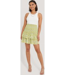 trendyol plisserad kjol med knappar - multicolor