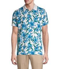 bonobos golf men's the performance floral golf shirt - turquoise - size m