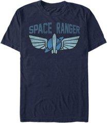 disney men's toy story space ranger star command logo, short sleeve t-shirt