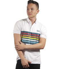 camiseta polo hombre manga corta slim fit blanco marfil paris