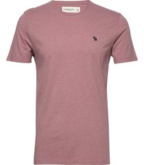 icon crew t-shirts short-sleeved rosa abercrombie & fitch