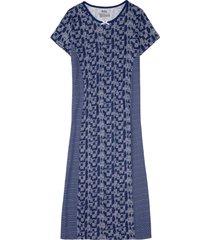 camicia da notte lunga in cotone biologico (blu) - bpc bonprix collection