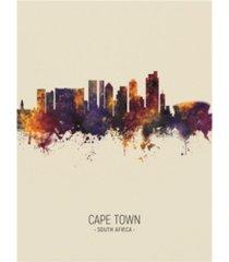 "michael tompsett cape town south africa skyline portrait iii canvas art - 19.5"" x 26"""