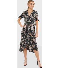 ax paris wrap flower midi dress loose fit dresses