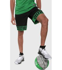 pantaloneta negro-verde nba boston celtics