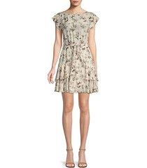 sofia floral silk dress