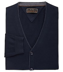 reserve collection cotton & silk blend cardigan men's sweater clearance